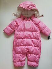 Ralph Lauren Girls Down Snowsuit Bunting Pink Size 9 Months NWT