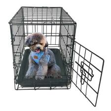 "20"" Pet Kennel Cat Dog Folding Steel Crate Animal Playpen Wire Metal Cage Black"
