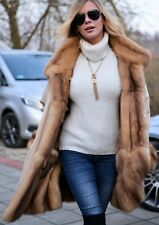 NEW GOLD RUSSIAN SABLE FUR SWINGER COAT CLASS OF JACKET MINK FOX LYNX CHINCHILLA