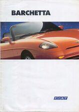 FIAT BARCHETTA 1995-1997 ORIGINALE UK SALES BROCHURE PUB. NO. A1201