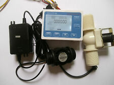 "G1"" Water Flow Control LCD Display+Flow Sensor +Solenoid valve +Power Adapter"