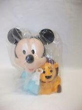 Vintage Mickey Mouse Hard Plastic Toy Money Box ~ New ~ Bullyland