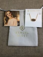 Kendra Scott Elisa Necklace Rose Gold / Rose Gold Drusy NWT & Pouch