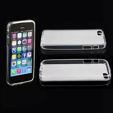 CLEAR APPLE iPHONE 5 / 5G SOFT SILICONE GEL RUBBER CASE: FROSTED BACK TPU M24