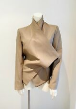 NWT $1390 HELMUT LANG Leather Beige Motorcycle Jacket (M)