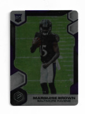 MARQUISE BROWN 2019 PANINI ELEMENTS METALLIC PURPLE ROOKIE RC #128 $20.00 RAVENS
