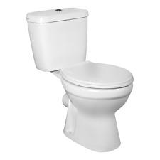 Stand WC mit Keramikspülkasten und Spartaste SPÜLRANDLOS Kombistand-WC