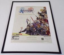 Final Fantasy Dissidia 2009 PSP Framed 11x14 ORIGINAL Advertisement
