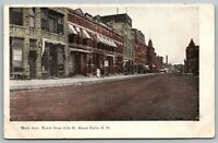 Sioux Falls South Dakota~Main Avenue North @ 10th~Storefronts~SALE~1909 Postcard