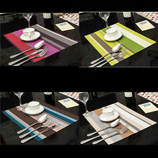 Wipe Fresh PVC Tasteless Clean Table Cloth Stripe Meal Tea Waterproof Insulation