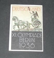 116 1936 BERLIN AFFICHE PANINI OLYMPIA 1896-1972 JEUX OLYMPIQUES OLYMPIC GAMES