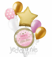 7 pc Twinkle Little Star Baby Girl Balloon Bouquet Party Decoration Shower Pink