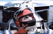 9x6 Fotografia Emerson Fittipaldi, AGV Casco verticale, COPERSUCAR FD04, 1976