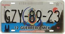 Plaque D'Immatriculation du Mexique -License Plate - GUERRERO - Véritable Plaque