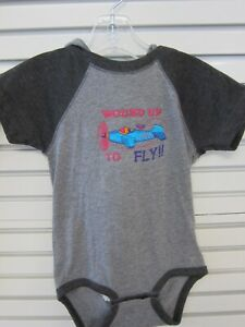 Aircraft Onsie Wound Up Embroidered Aircraft Design with hood