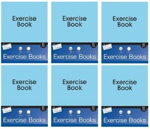 Bulk Price - 36 x Just Stationery 48 Page Exercise books lined White paper