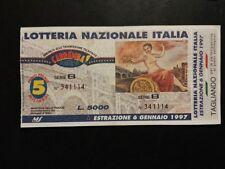 BIGLIETTO LOTTERIA NAZIONALE ITALIA 1997
