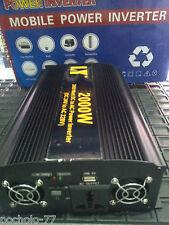 CONVERTIDOR INVERSOR PARA COCHE DE 24V A 220V 2000W INVERTIDOR DC - AC  LIGERO
