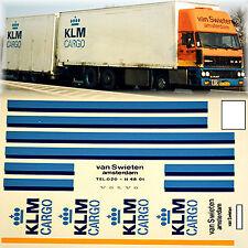 Daf KLM Cargo van Swieten Amsterdam (NL) 1:87 Truck Decal LKW Abziehbild