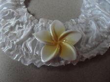Frangipani Wedding Bridal Satin Good Luck Charm Horseshoe  Beach Theme Keepsake