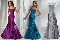 Sheathy One-shoulder Ruched  Evening/Prom dress/Formal/Ball gown/SZ 6 8 10 12 14
