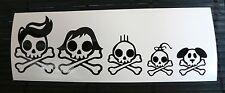 adesivo Famiglia - happy family decal sticker teschio papà mamma cane bimbi