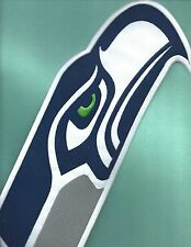 NEW 5 X 14 INCH SEATTLE SEAHAWKS HEAD IRON ON PATCH FREE SHIPPING