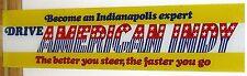 1960's American Machine & Foundry American Indy 500 Arcade Original Backglass