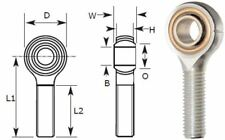 8mm Male Rod End Bearing, Left Hand Thread M8X1.25 Rose Joint, Bronze Liner