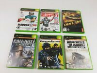 Original XBox Video Game Lot of 6 games -NFL 2K5 -Call of Duty - Bro in Arms