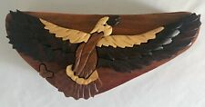 Beautifully Handcrafted Carved EAGLE Wood Puzzle Jewelry/Trinket Box Unique