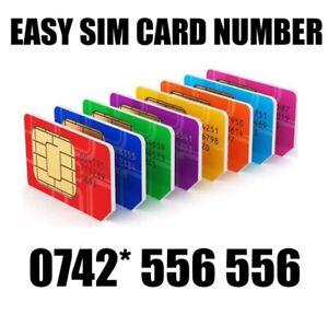 GOLD EASY VIP MEMORABLE MOBILE PHONE NUMBER DIAMOND PLATINUM SIMCARD 556 556