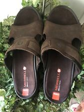 NWOT Merrell Telluride Slide Comfort Sandals Men's size 9  Clay (Brown)  NEW