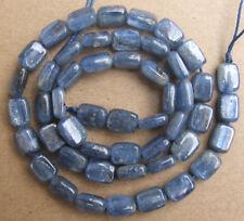 "6x8mm Natural Blue Kyanite Rectangle Loose Beads 15.5"""