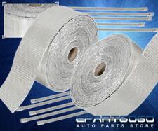 30Ft Turbo Exhaust Header Manifold Intake Thermal Heat Wrap Kit +Zip Ties Silver