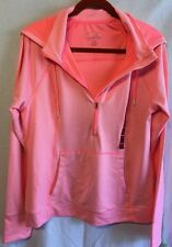 Women's NWT tangerine Hooded Jacket Sweatshirt Size X Large Bright Coral