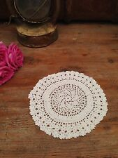 VINTAGE CROCHET WHITE DOILY. 20cm Dia. MORE AVAIL CHECK OUT OUR OTHER LISTINGS!