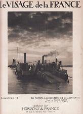 """PHOTO original """"visage de la france"""" environ 1920 17 cm x 23 cm LA TREMBLADE BAC"""