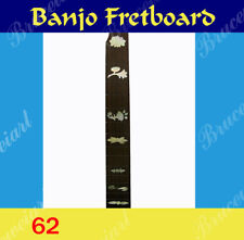 Free Shipping, Banjo Part - Rosewood Slotted Fretboard w/MOP Art Inlay (62)