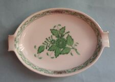 HEREND CHINESE BOUQUET GREEN APPONYI VERT Vintage Porcelain PEONY Flower ASHTRAY