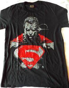 Noir Illimité Designer Superman Style T-Shirt M 100% Coton Avec Étiquettes