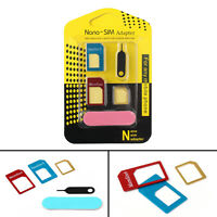 1Pcs Nano SIM Tarjeta a Micro Estándar Adaptador Set Para Samsung iPhone