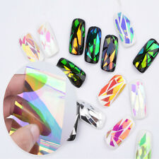 Nail Art Sticker Water Transfer 3D Decoration Laser Manicure Decals Tips 5Pcs