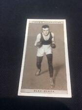 Elks Clark 10 1928 Ogdens Boxing Cigarette card Boxer Pugilists in action