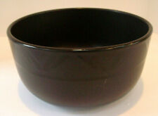 Pfaltzgraff Midnight Sun large salad serving bowl black geometric designs