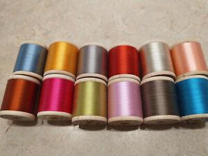 Vintage Belding Corticelli Silk Thread FULL BOX 12 Spools Variety