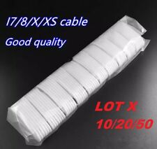 LOT 10 20 50 3FT iPhone 11 XR 6/7/8 Plus Lightning 8 Pin USB Charger Cord Cable