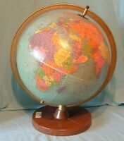 "12"" Vintage Reference Replogle Globe with Metal Base - Chicago, IL"