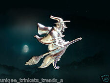 BUY 1 GET 1 25% OFF~HALLOWEEN SILVER WICKED WITCH PIN BROOCH~ADULT COSTUME WOMEN