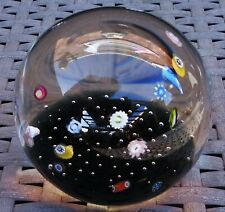 CAITHNESS GLASS SCOTLAND FLOATING MILLEFIORI PAPERWEIGHT LARGE